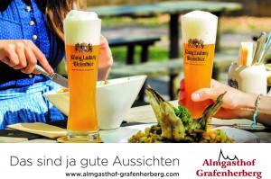 Werbebanner-Almgasthof Grafenherberge KLW